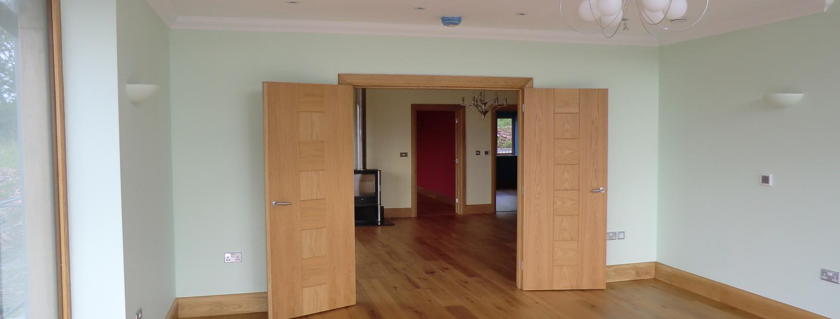Oak engineered flooring at a home with free samples