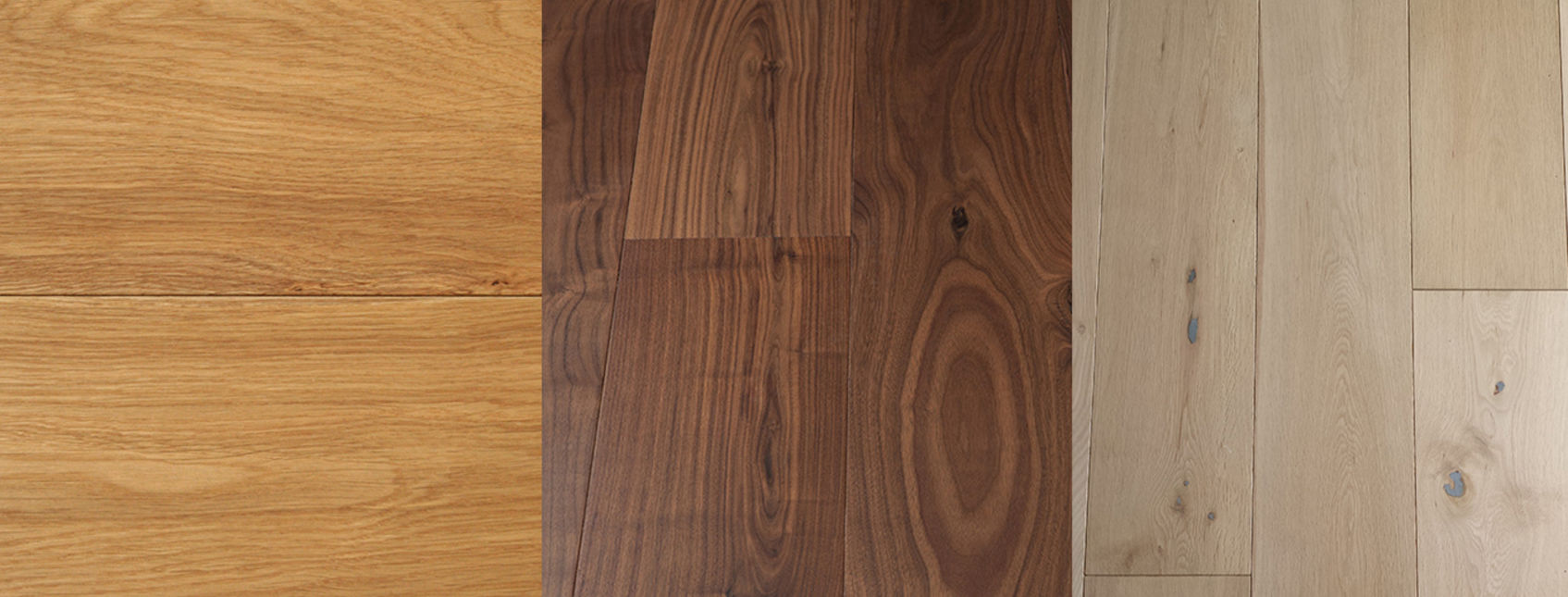 3 different versions of wood flooring