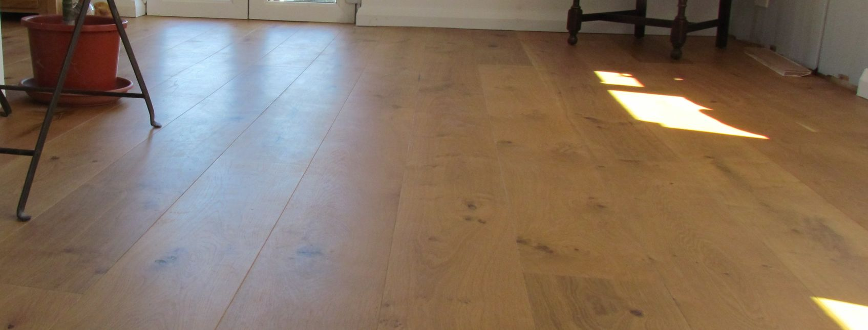 European oak after being treated with clear hardwax oil