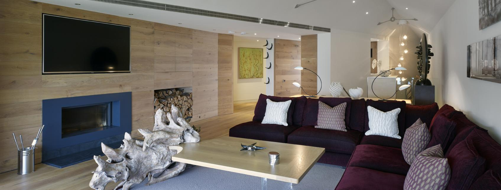 Oak clad walls in North Cornwall Property