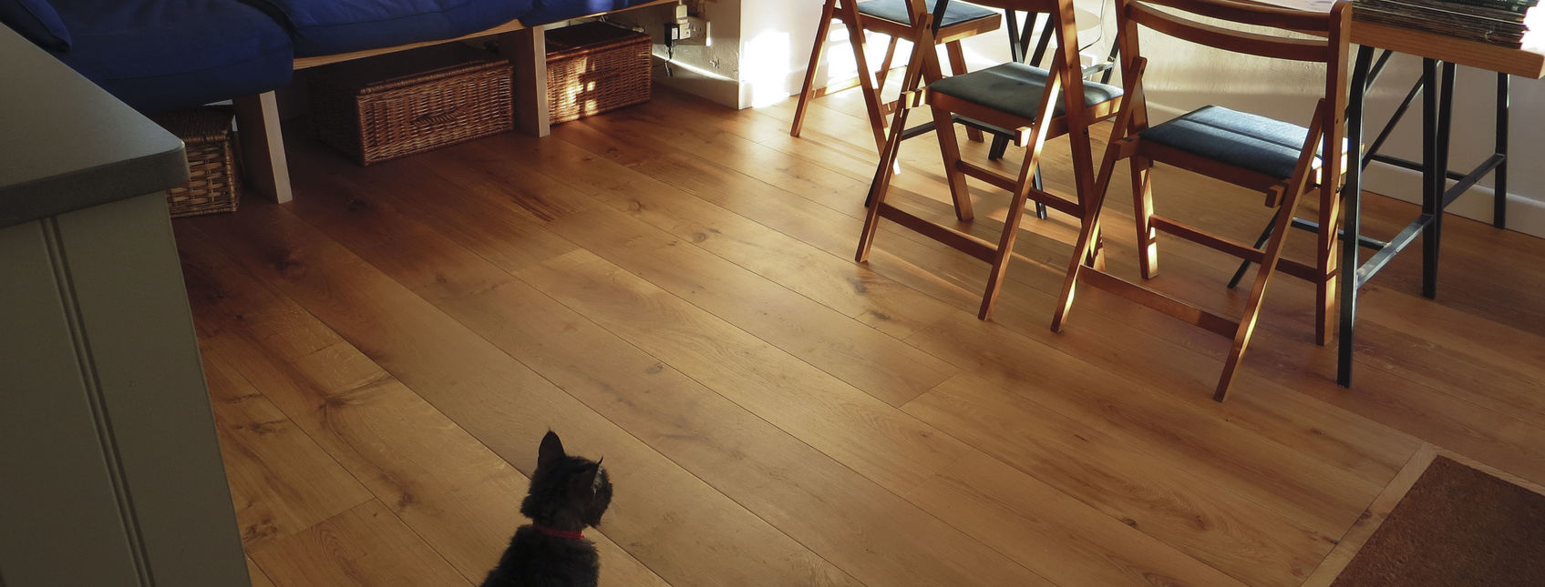 Wooden floors suitable for our fury friends