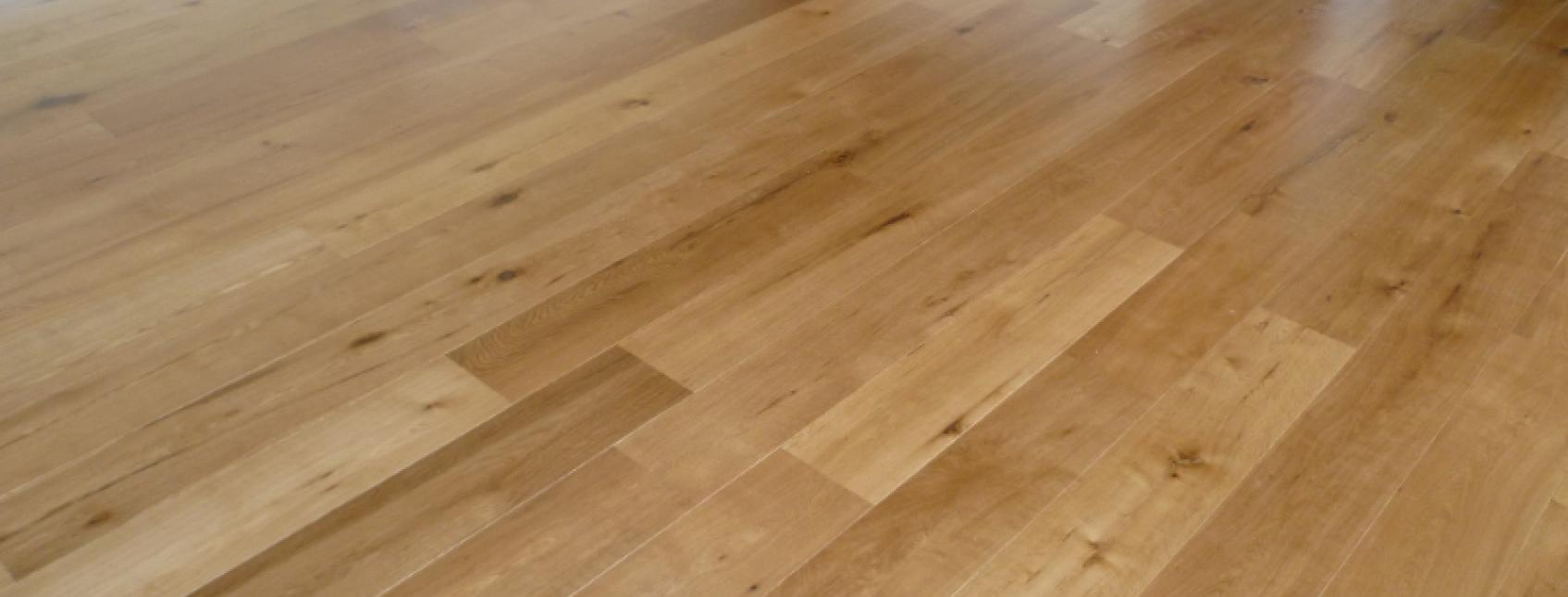 Clear Satin finish on engineered oak