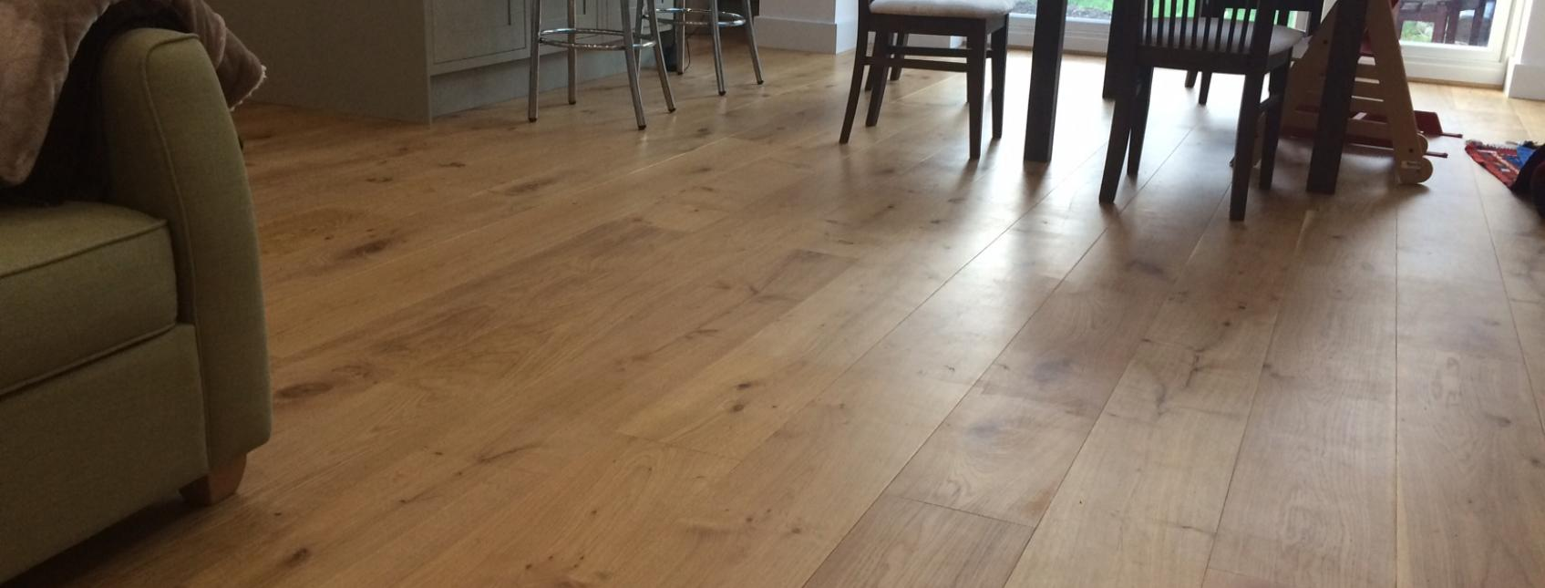 Engineered wood flooring in a house in Harrow, North London