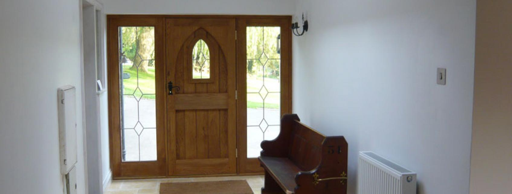 190mm oak engineered in hall and porch