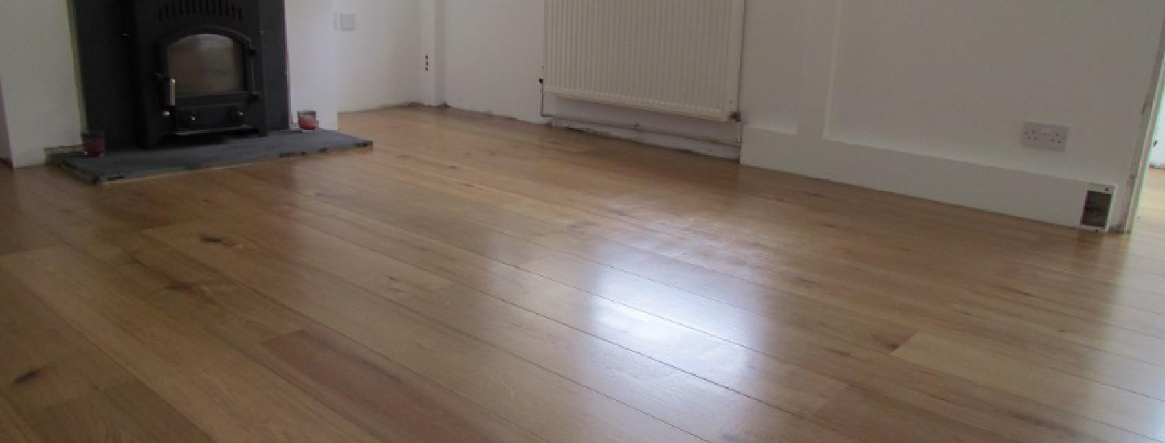 Clear sating treatex on clients wood floor