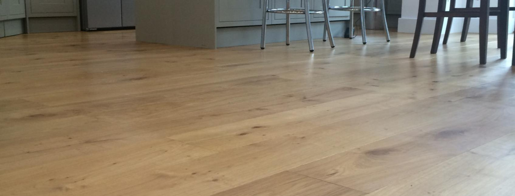 Engineered oak boards laid in North London