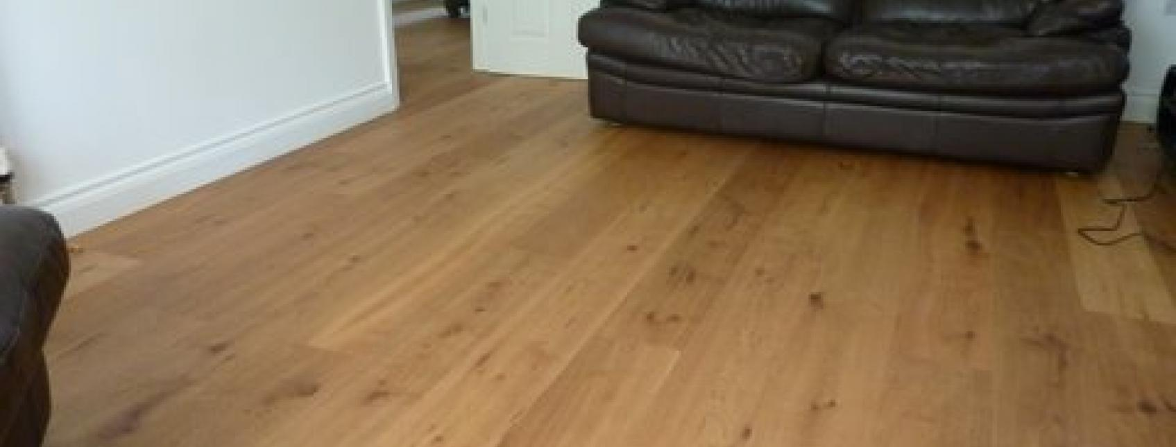 Contemporary wood flooring in a modern lounge