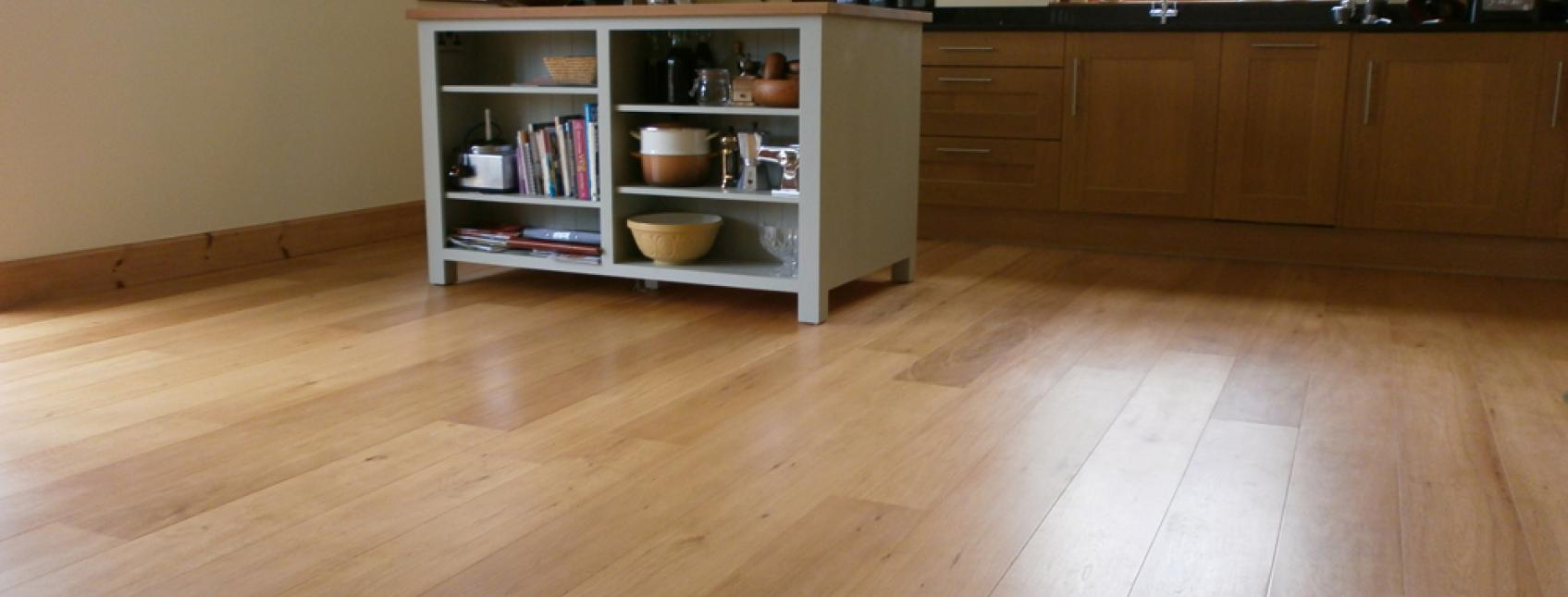 treatex and flooring laid in kitchen