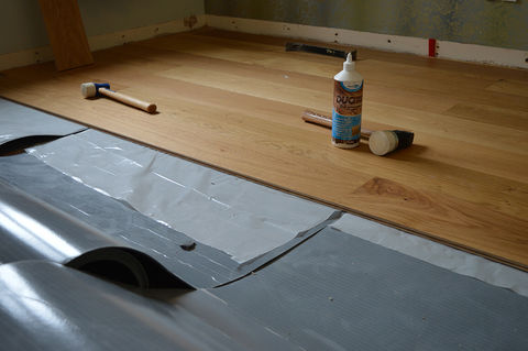 Pre installation fitting guide for wooden floor