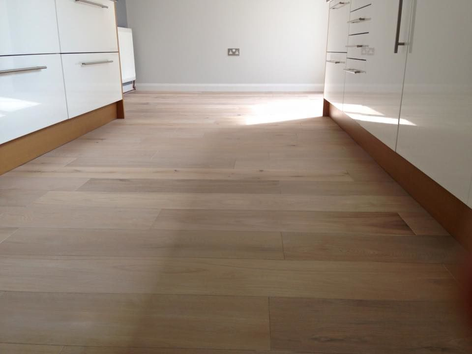 White Lime And Off White Effect Engineered Flooring