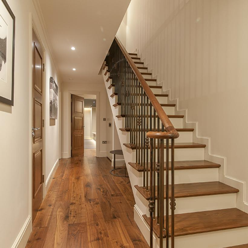 Black Walnut Engineered Flooring | Stairway