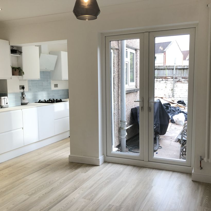 Cockleshell White - LVT Flooring in Kitchen