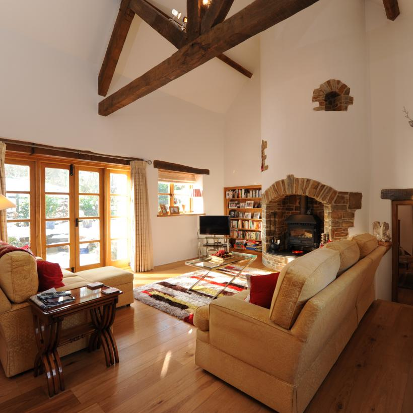 Engineered European Oak Flooring in Gorgeous North Devon Barn Renovation