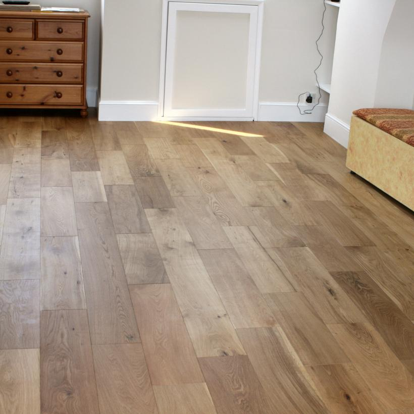 190mm wide random length oak flooring