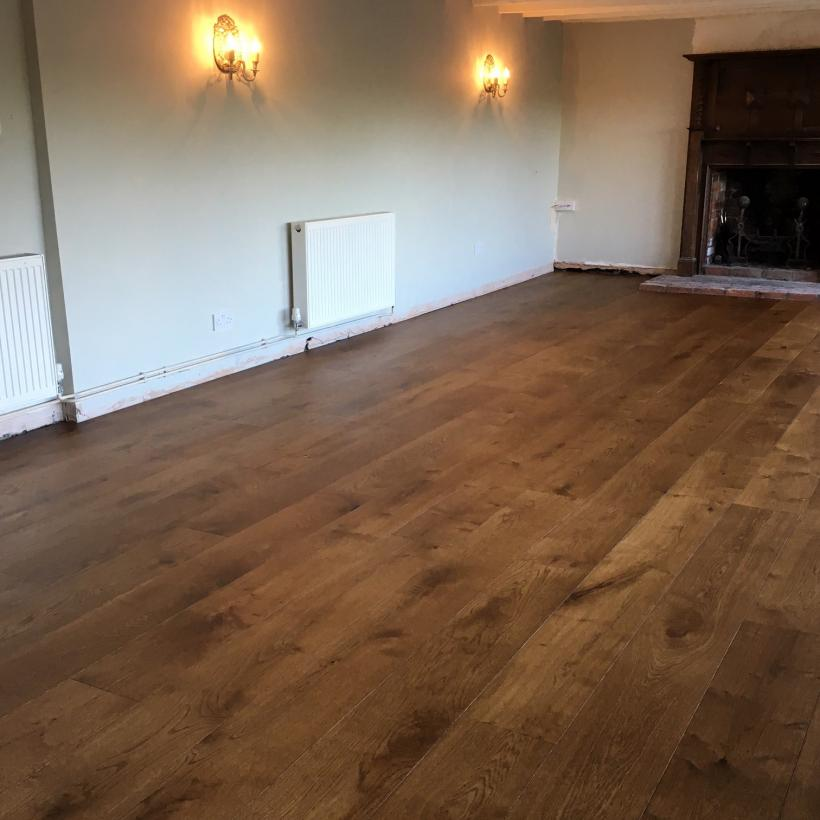 220mm Engineered Oak Flooring | Dark Oak Treatex Colour Tone