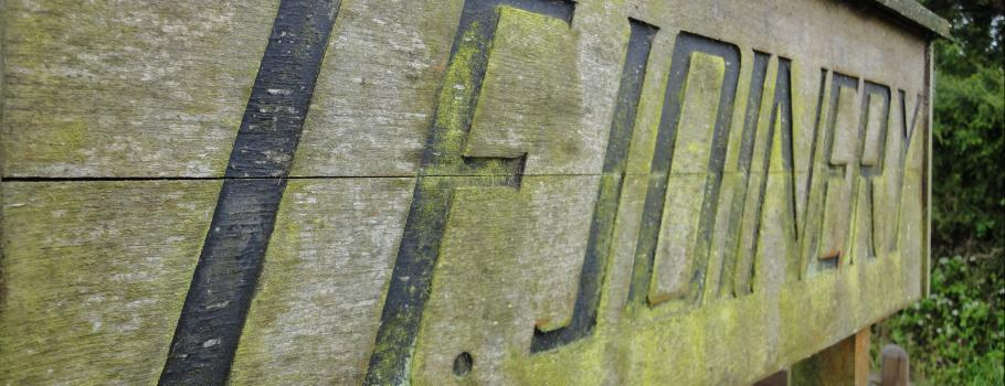 JF Joinery's Old Wooden Sign