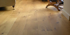 Real wood floorboards