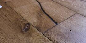 Brushed textured oak flooring