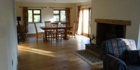 190mm oak engineered in dining room